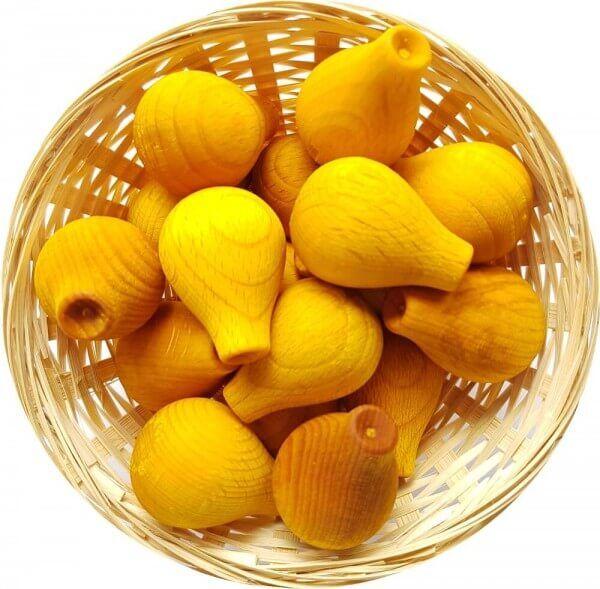 10x Papaya Duftholz zur Lufterfrischung und Raumbeduftung - Dufthölzer - Duftfrüchte - Duftkugel