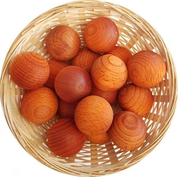 1x Duftholz Orangen-Blüte - Orangenblüte zur Lufterfrischung und Raumbeduftung - Dufthölzer - Duftfrüchte - Duftkugel