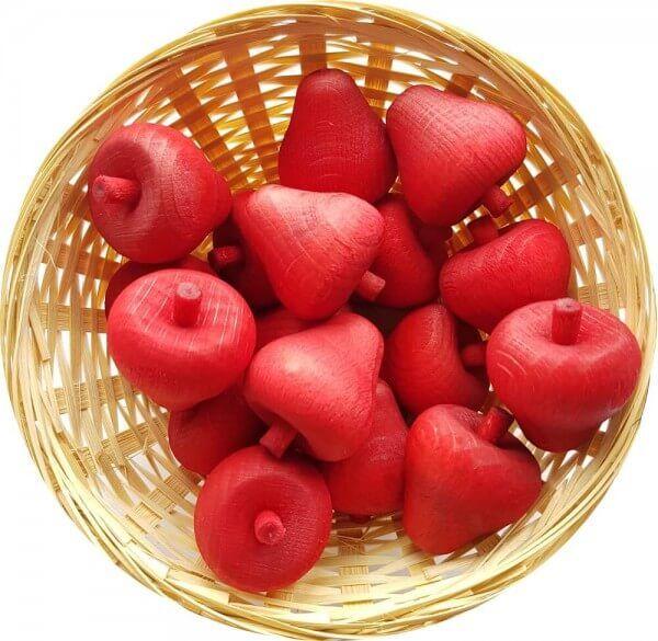 25x Erdbeere Duftholz zur Lufterfrischung und Raumbeduftung - Dufthölzer - Duftfrüchte - Duftkugel