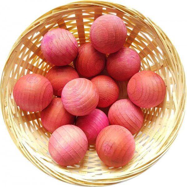 5x Rose Duftholz zur Lufterfrischung und Raumbeduftung - Dufthölzer - Duftfrüchte - Duftkugel