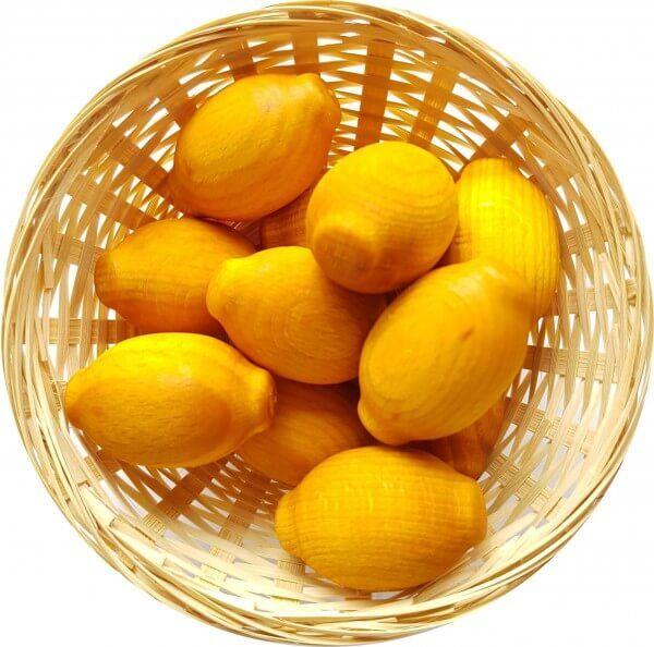 5x Zitrone Duftholz zur Lufterfrischung und Raumbeduftung - Dufthölzer - Duftfrüchte - Duftkugel